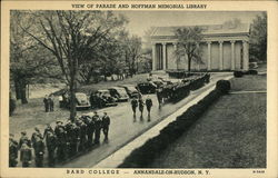 View of Parade and Hoffman Memorial Library, Bard College