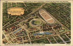 Aerial View of Texas Centennial Exposition