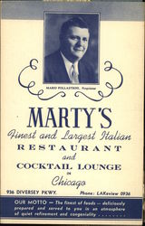 Marty's, Famous for Fine Foods Postcard