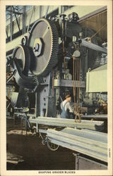 "Shaping Grader Blades, The ""Caterpillar"" Factory"