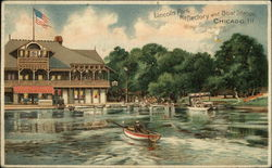 Lincoln Park, Reflectory and Boat Station Postcard