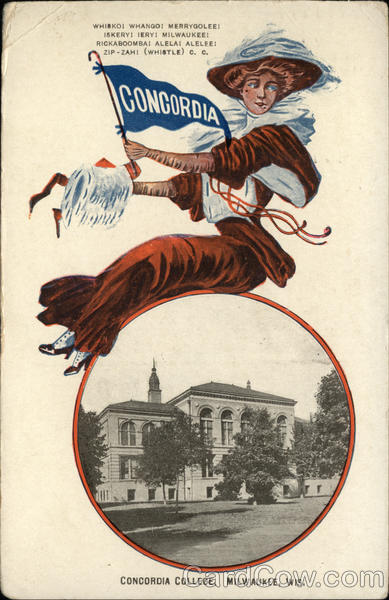 Concordia College Girl and Campus Milwaukee Wisconsin