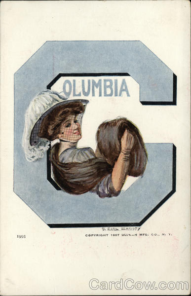Columbia University College Girl F. Earl Christy College Girls