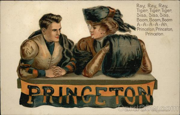 Princeton University Girl & Football Player F. Earl Christy