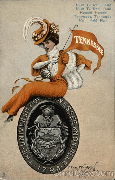 University of Tennessee College Girl F. Earl Christy