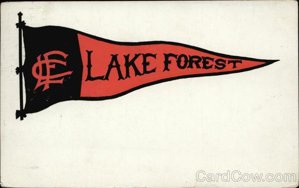 Lake Forest College Pennant School Pennants