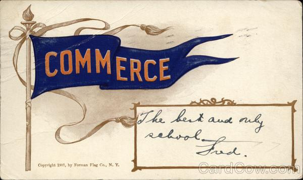 Commerce College Flag School Pennants