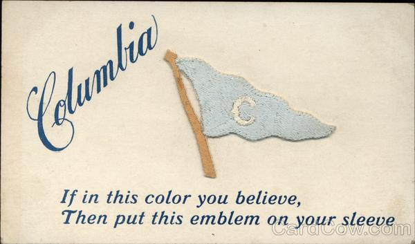 Columbia University Embroidered Pennant School Pennants