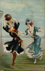 College Girls Playing Basketball - Columbia & Princeton