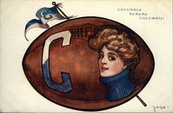 Columbia University Collage Girl and Football