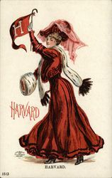 Harvard University College Girl