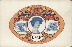 University of Pennsylvania College Girl and School Emblem