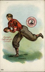 Cornell University Football Player and School Seal