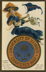 University of Illinois College Girl, Pennant and School Seal