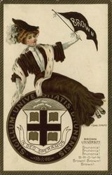 Brown University College Girl and School Seal