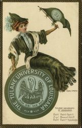 Tulane University of Louisiana College Girl and School Seal