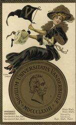 Vanderbilt University College Girl and School Seal