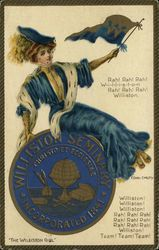 Williston Seminary College Girl and School Seal