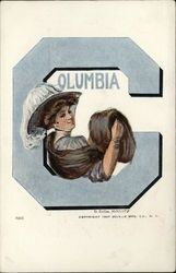 Columbia University College Girl