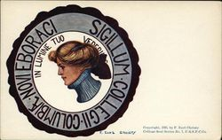 Columbia University College Girl and School Seal