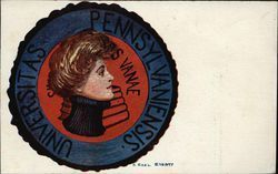 University of Pennsylvania College Girl and Emblem