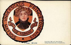 Princeton University College Girl and School Seal