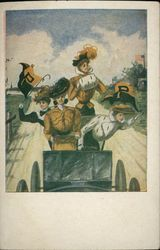 Four Princeton University College Girls on a Joy Ride
