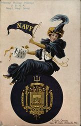 United States Naval Academy College Girl and School Seal