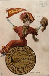 Oberlin College Girl with University Seal