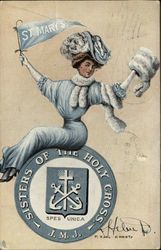 Rare St. Mary's College Seal and College Girl