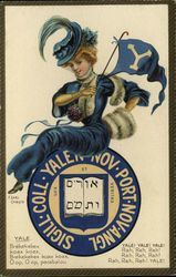 Yale University College Girl and School Seal