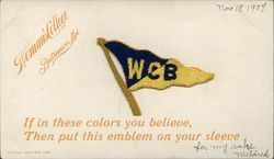 Woman's College of Baltimore Embroidered Pennant