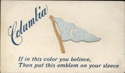 Columbia University Embroidered Pennant
