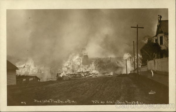 Blue Lake Fire December 5, 1911 California