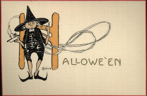 Halloween Witch with Candlestick