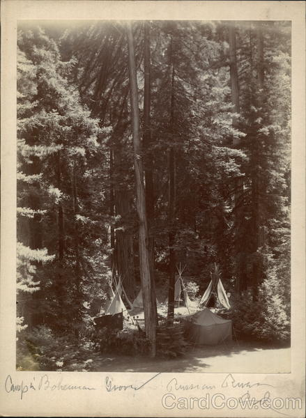 Rare: Toyland Bohemian Grove Original Photo Teepees Camp Monte Rio California