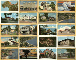 Lot of 20 Original Monterey Area Vintage Postcards 1940's Postcard