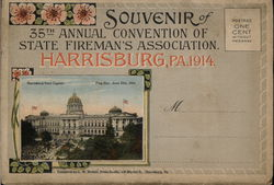 Rare 1914 35th Annual Fireman's Association Convention Souvenir Folder