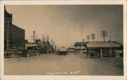 1920's Rare Truckee Street Scene Associated Oil Co.