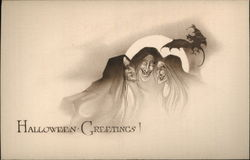 Three Witches Under Full Moon