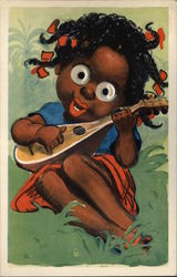 Googly Eyes Girl Playing Guitar