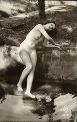 Full Nude Woman, Nature Scene #3613 Postcard