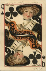 Rare: Princeton Queen of Spades College Queens Series 2767 Postcard