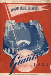 1952 New York Giants Program & Score Card Other Ephemera