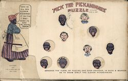 Pick the Pickaninnies Novelty Game Postcard