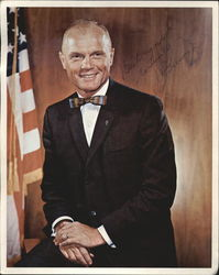 John Glenn Bow Tie Hand Signed 8x10 Printed Photo Autograph