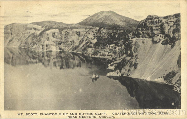 Mt. Scott. Phantom Ship And Dutton Cliff, Crater Lake National Park Medford Oregon