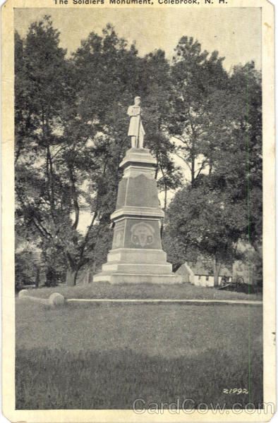 The Soldiers Monument Colebrook New Hampshire