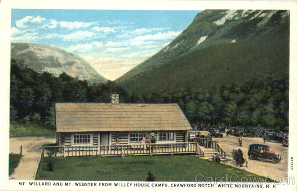 Mt. Willard And Mt Webster From Willey House Camps, Crawford Notch White Mountains New Hampshire