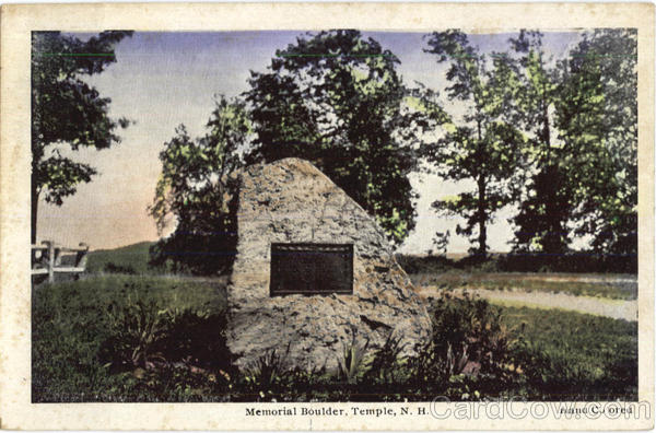 Memorial Boulder Temple New Hampshire